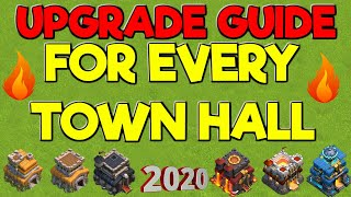 Upgrade Guide FOR EVERY TOWN HALL - What To Upgrade first! - Clash of Clans 2020