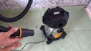 Aspirador de pó e água WAP GTW INOX 12 1400W + função soprador de ar  unboxing