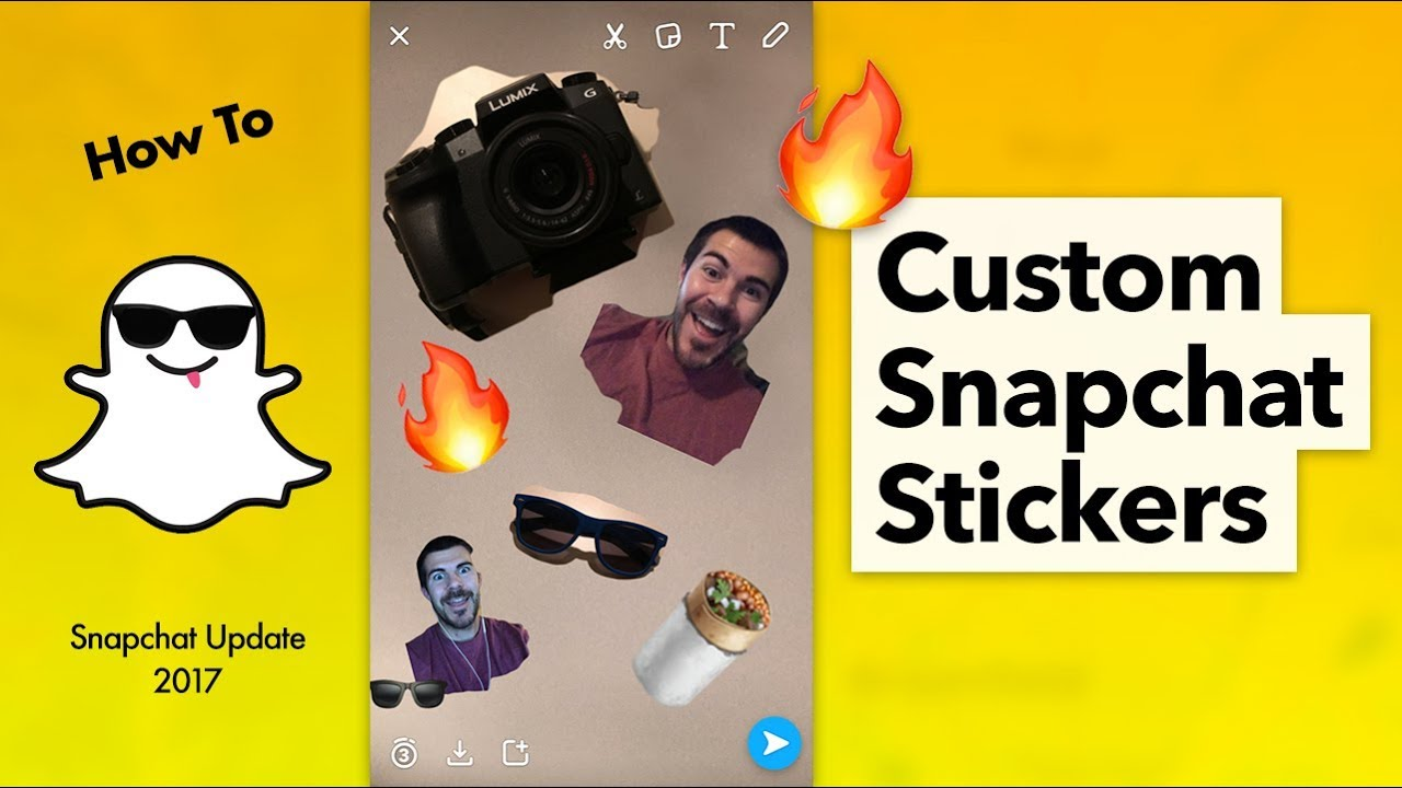 How To Make And Send Custom Snapchat Stickers