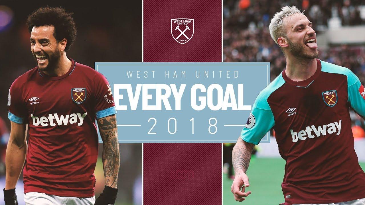 Every West Ham United Goal 2018 Youtube
