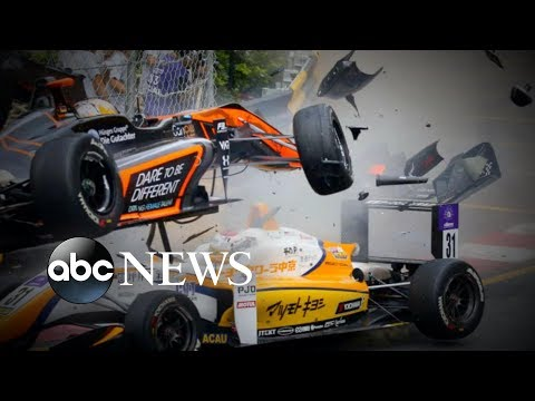 Exclusive interview with the race car driver who survived a horrific crash