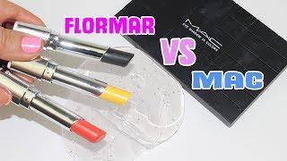 MAC vs FLORMAR Slime Süsleme Challenge!! | Makeup Slime Mixing, Ruj ve Far Slime Karıştırma! Oyuncak