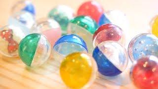 え〜、100円のにして!レジンでガチャガチャカプセルを作ってみました。 making capsule toys thumbnail
