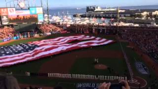 American Flag Rips during World Series