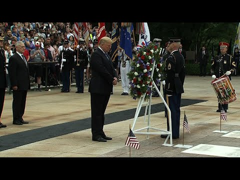 On 'Sacred Soil,' Trump Honors Fallen Soldiers