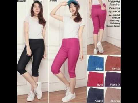 Celana Legging Pendek Jumbo Youtube