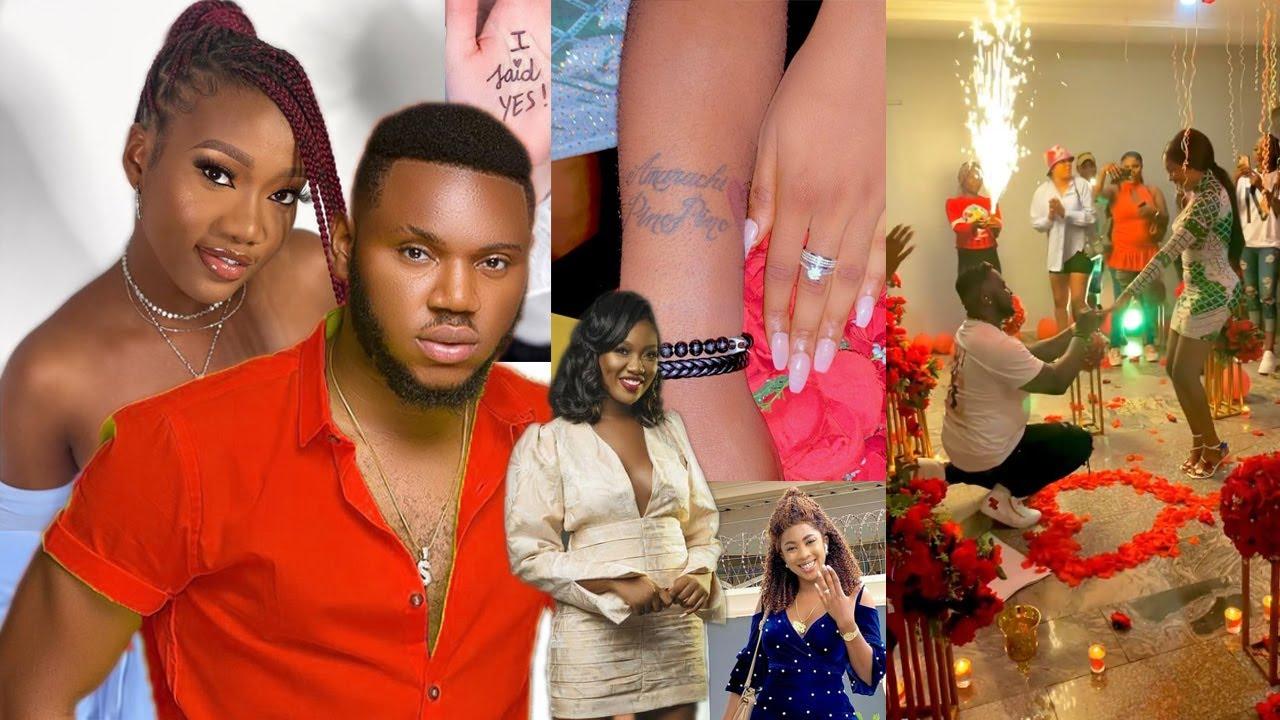 Download Congrats! Somadina To Uche Nancy's Daughter Chinenye Nnebe, Amarachi Igidimbah & Husband Engagement.