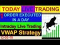 Intraday live trading VWAP Strategy # 1 order execute in a day | By Greentipsnadvise