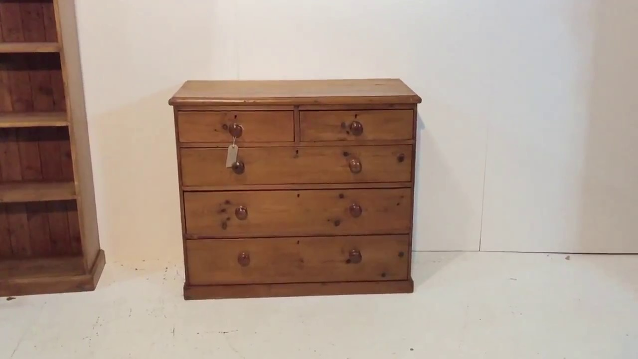 Charming Waxed Victorian Pine Chest Of Drawers   Pinefinders Old Pine Furniture  Warehouse