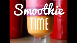 Smoothie Time! Mango-banane-heidelbeere