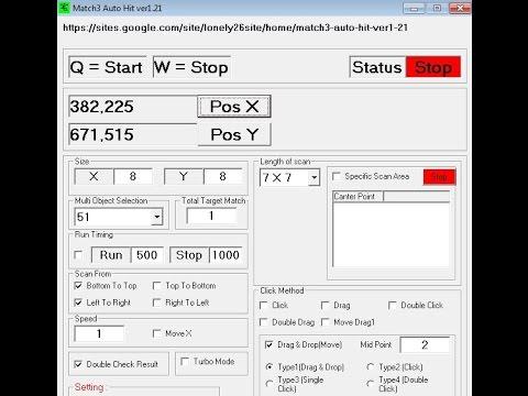 Match3 With Jewel Jungle Game Auto Click (宝石丛林对对碰)