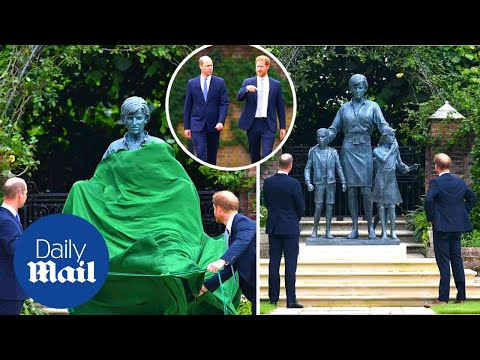 Prince William and Prince Harry unveil Princess Diana statue on her birthday