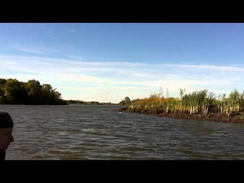Boat ride Devils Creek Manitoba