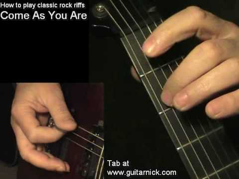 Come As You Are, Nirvana - Guitar Lesson & TAB! Learn To Play Classic Rock Metal Riffs