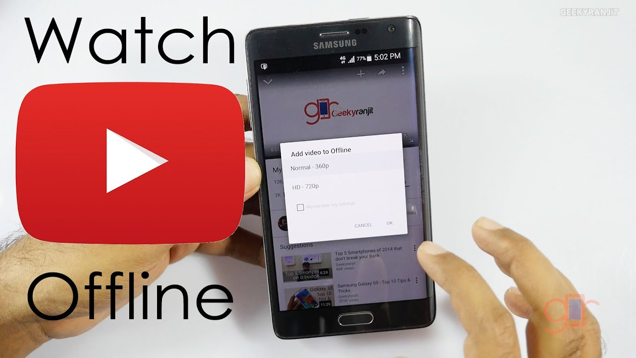 Watch Youtube videos Offline with Youtube Offline