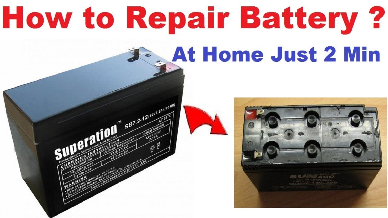 How to Recover 12 Volt Battery | Repair Shield Lead Acid Battery, UPS  Battery at Home shop online
