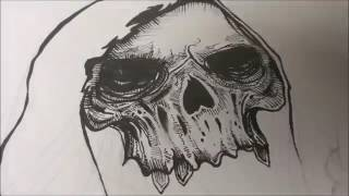 Speed Drawing - Grim Reaper - Pen and Ink | Blvckink