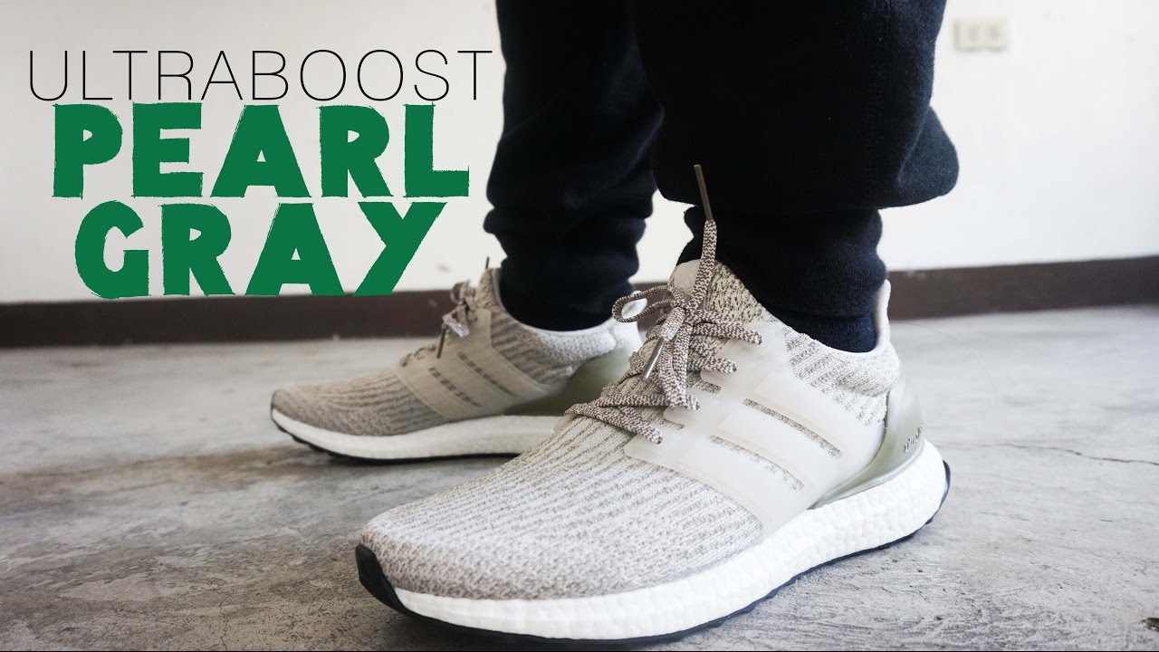 f8cbb78553cc8 Adidas Ultraboost PEARL GRAY TRACE CARGO QUICK On Feet and Review ...