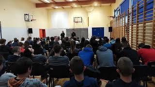 Spotkanie uczniów z nauczycielem II LO- Przemysławem Staroniem.