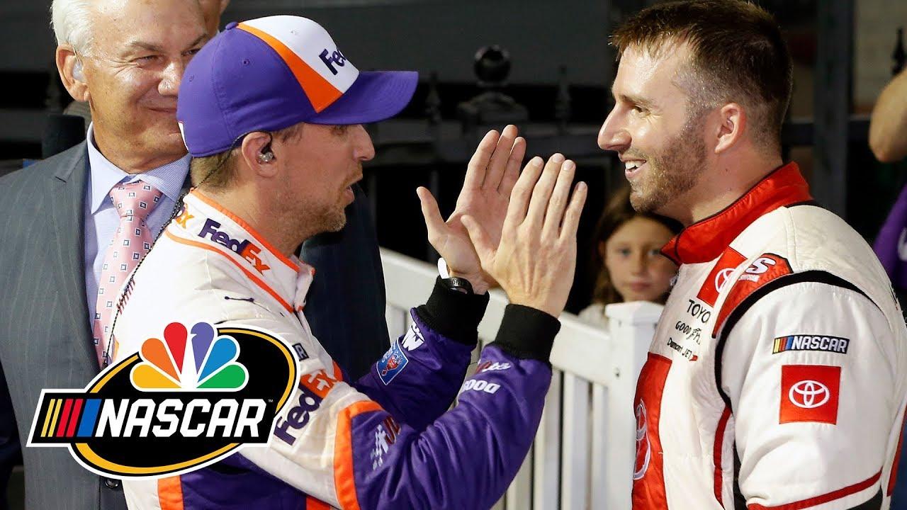 Denny Hamlin wins NASCAR Bristol race