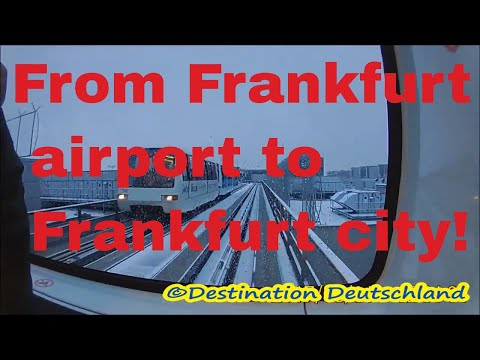 How to get to Frankfurt City from Frankfurt Airport. (Travelling Alone to Frankfurt)