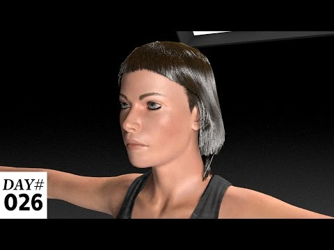 Adobe Fuse Characters: Creating and Grooming Realistic Hair in Cinema 4D
