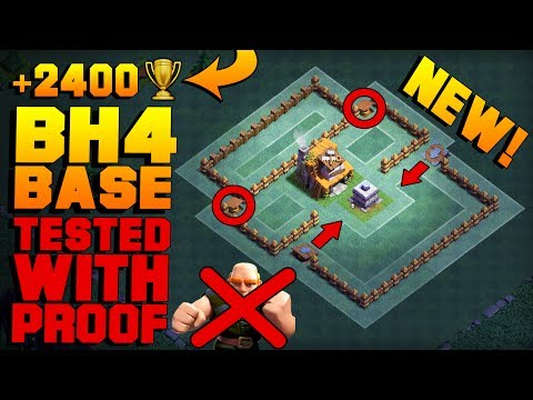 BEST Builder Hall 4 Base w/ PROOF! MUST SEE!   NEW CoC BH4 ANTI GIANT Builder Base   Clash of Clans