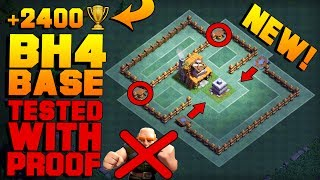 BEST Builder Hall 4 Base w/ PROOF! MUST SEE! | NEW CoC BH4 ANTI GIANT Builder Base | Clash of Clans