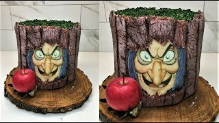 Cake decorating tutorials | Halloween fault line cake | Sugarella Sweets