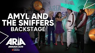 Amyl and The Sniffers Backstage at the 2019 ARIA Awards