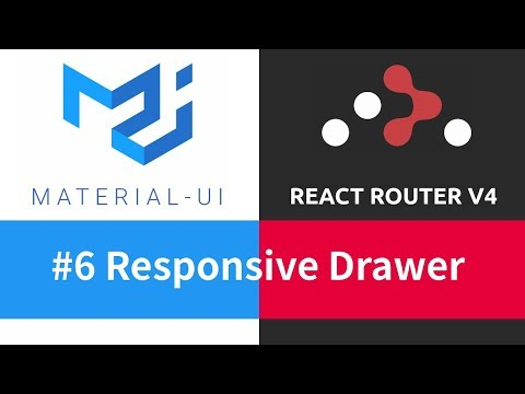 Material-UI + React Router - #6 Responsive Drawer - YouTube