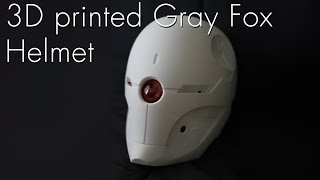 3D Printed Gray Fox Helmet