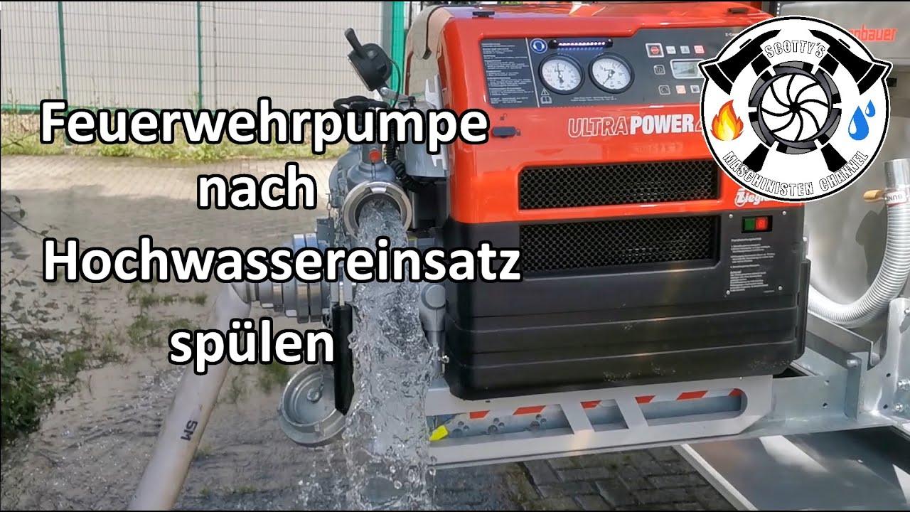Feuerwehrpumpe richtig spülen nach Hochwassereinsatz