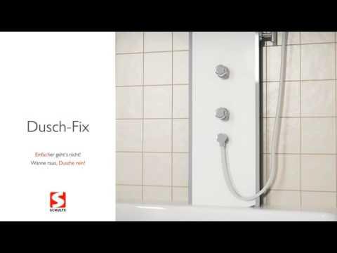 dusch fix von schulte wanne raus dusche rein youtube. Black Bedroom Furniture Sets. Home Design Ideas