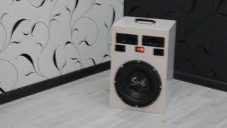 DIV ПОРТАТИВНАЯ Bluetooth КОЛОНКА (САБВУФЕР) своими руками PORTABLE Bluetooth speaker (SUBWOOFER)