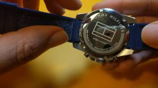 Tommy Hilfiger men's cool sport stainless steel and silicon casual blue watch (model 1791349)