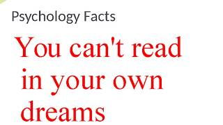 psychology facts about dream, love and people