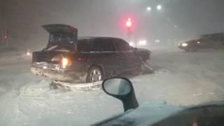 Страшная авария в буран (Астана 2015)