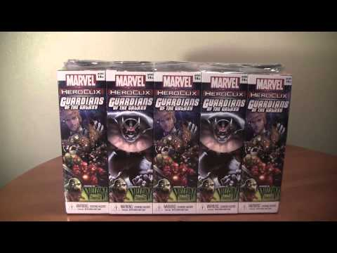 Marvel Heroclix Guardians of the Galaxy Brick Unboxing
