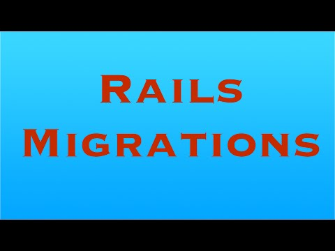 Ruby On Rails - Migrations