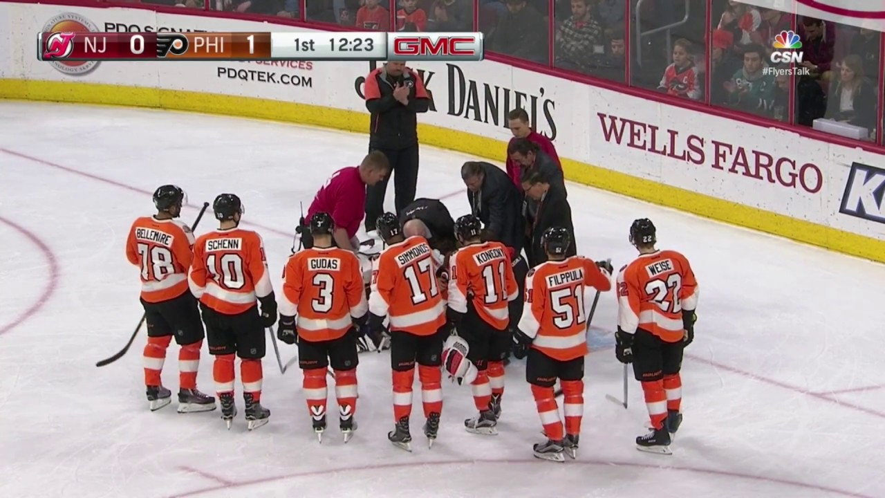 Michal Neuvirth fainted during the game