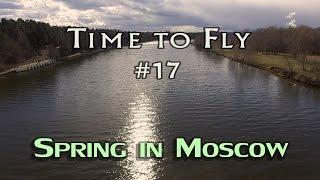 Spring day in Moscow (April). DJI PHANTOM 4 drone video | Москва, Серебряный бор с квадрокоптера