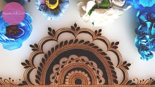 Half Mandala henna/mehendi design| Henna tutorials, classes and lessons by Devaky S Dharan