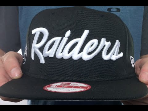 6c437fce219 Raiders  TEAM-SCRIPT SOCAL SNAPBACK  Black Hat by New Era - YouTube