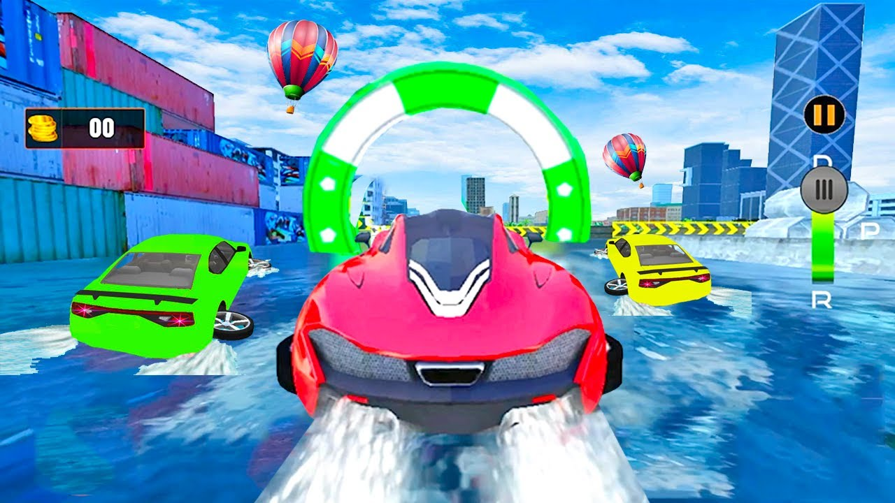 Juegos de Carros - Water Surfing Car Stunts - Videos de Super Autos Deportivos