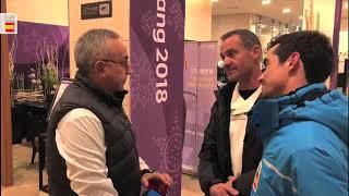 Javier Fernández celebra con su círculo más íntimo su histórica gesta olímpica