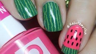 Watermelon Nail Art Nail Stamping