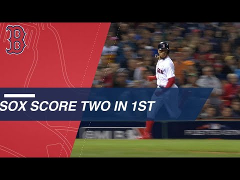 Andrew Benintendi, Rafael Devers drive in a pair for the Red Sox in the 1st