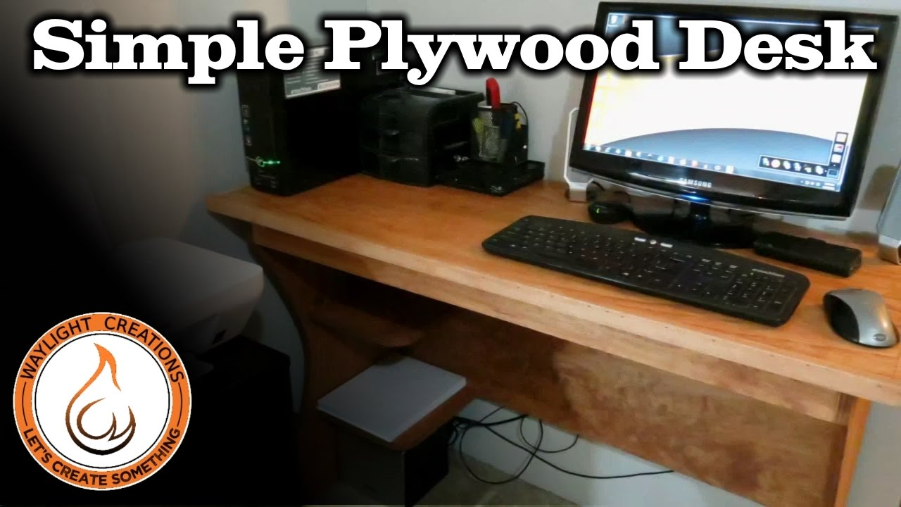 Make A Computer Desk With A Single Sheet Of Plywood