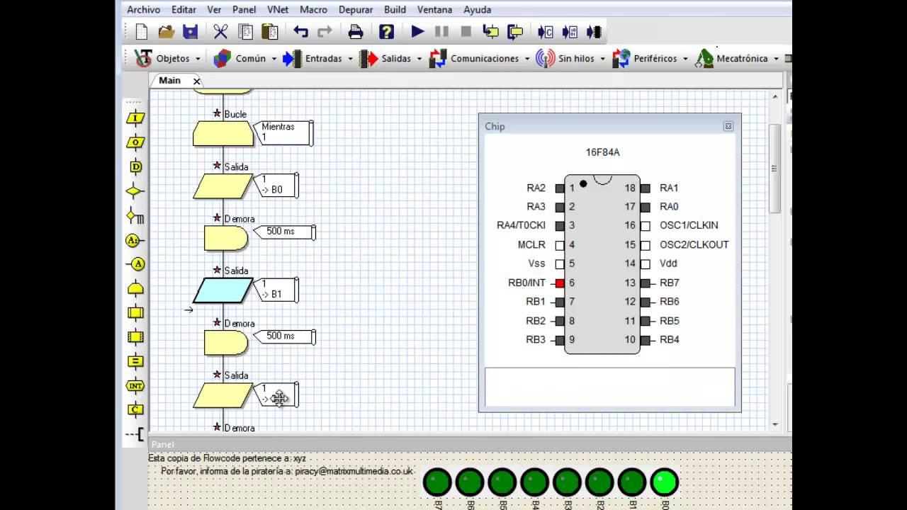 Programar pic sin saber programar usando diagramas flowcode secuencia led 2 youtube